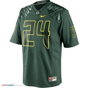 Kenjon Barner Oregon Ducks #24 Football Jersey - Green