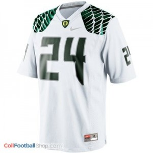 Kenjon Barner Oregon Ducks #24 Youth Football Jersey - White