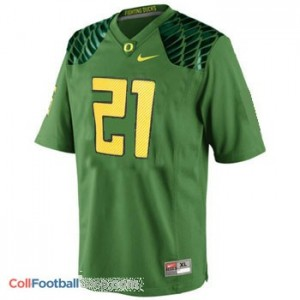 LaMichael James Oregon Ducks #21 Football Jersey - Apple Green