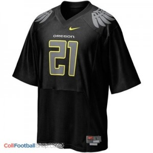 LaMichael James Oregon Ducks #21 Football Jersey - Black