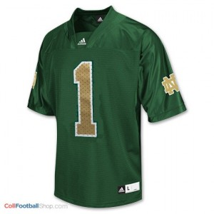 Louis Nix III Notre Dame Fighting Irish #1 Youth Football Jersey - Green