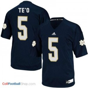 Manti Te'o Notre Dame Fighting Irish #5 Youth Football Jersey - Navy Blue