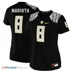Marcus Mariota Oregon Ducks #8 Women Football Jersey - Black