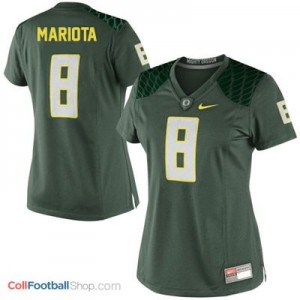 Marcus Mariota Oregon Ducks #8 Women Football Jersey - Green