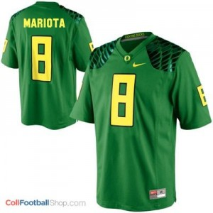 Marcus Mariota Oregon Ducks #8 Youth Football Jersey - Apple Green