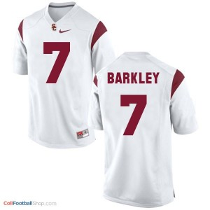 Matt Barkley USC Trojans #7 Youth Football Jersey - White
