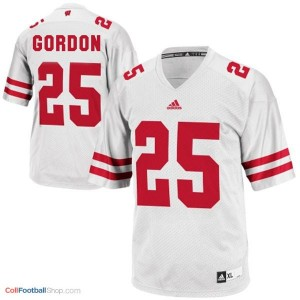 Melvin Gordon Wisconsin Badgers #25 Youth Football Jersey - White