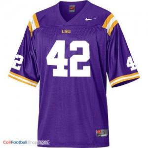 Michael Ford LSU Tigers #42 Mesh Football Jersey - Purple