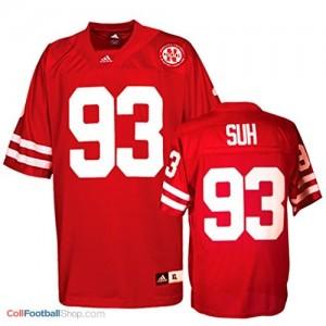 Ndamukong Suh Nebraska Cornhuskers #93 Youth Football Jersey - Red