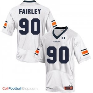 Nick Fairley Auburn Tigers #90 Football Jersey - White
