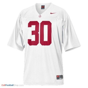 Alabama Crimson Tide Dont'a Hightower #30 White Football Jersey