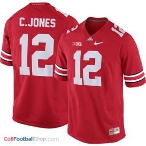 Cardale Jones Ohio State Buckeyes #12 Football Jersey - Scarlet