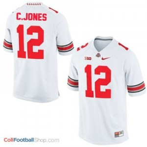 Cardale Jones Ohio State Buckeyes #12 Football Jersey - White