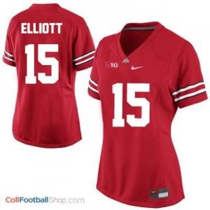 Ezekiel Elliott Ohio State Buckeyes #15 Women's Football Jersey - Red