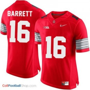 J.T. Barrett OSU #16 Diamond Quest Playoff Football Jersey - Scarlet Red