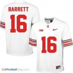 J.T. Barrett OSU #16 Diamond Quest Playoff Football Jersey - White