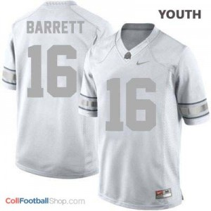 J.T. Barrett Ohio State Buckeyes #16 Football Jersey - Platinum - Youth