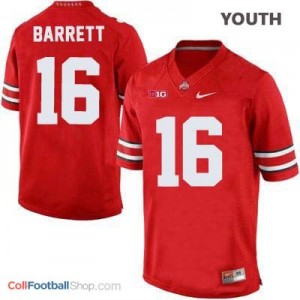 J.T. Barrett Ohio State Buckeyes #16 Football Jersey - Scarlet - Youth