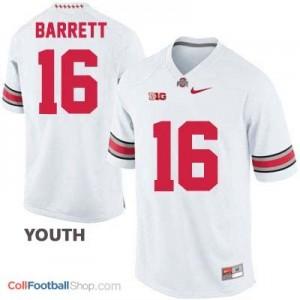 J.T. Barrett Ohio State Buckeyes #16 Football Jersey - White - Youth
