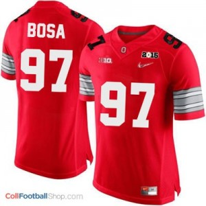 Joey Bosa OSU #97 Diamond Quest 2015 Patch Football Jersey - Scarlet