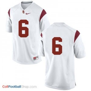 USC Trojans #6 Football Jersey - White