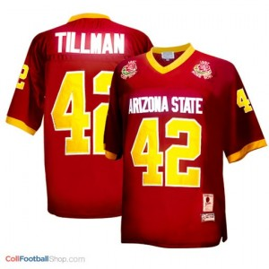 Pat Tillman Arizona State (ASU)  #42 1997 Rose Bowl Vintage Football Jersey - Red
