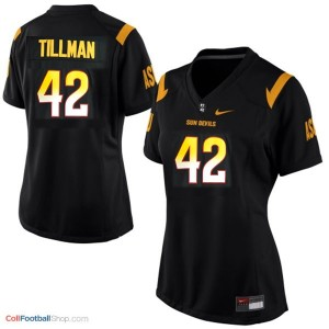 Pat Tillman Arizona State Sun Devils (ASU)  #42 Women Football Jersey - Black