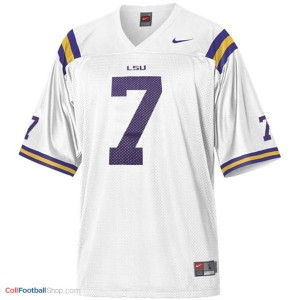 Patrick Peterson LSU Tigers #7 Mesh Youth Football Jersey - White