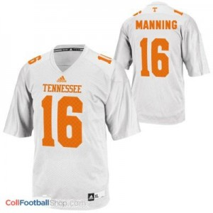 Peyton Manning Tennessee Volunteers #16 Youth Football Jersey - White