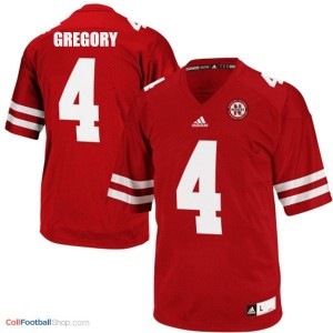 Randy Gregory Nebraska Cornhuskers #4 Football Jersey - Red