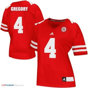 Randy Gregory Nebraska Cornhuskers #4 Women Football Jersey - Red