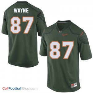 Reggie Wayne Miami Hurricanes #87 Football Jersey - Green