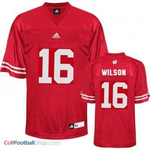 Russell Wilson Wisconsin Badgers #16 Football Jersey - Red