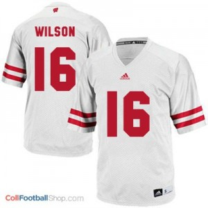 Russell Wilson Wisconsin Badgers #16 Youth Football Jersey - White