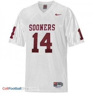 Sam Bradford Oklahoma Sooners #14 Youth Football Jersey - White