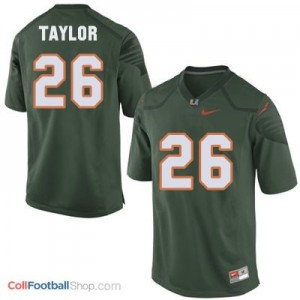 Sean Taylor Miami Hurricanes #26 Football Jersey - Green
