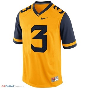 Stedman Bailey West Virginia Mountaineers #3 Football Jersey - Gold