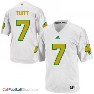 Stephon Tuitt Notre Dame Fighting Irish #7 Shamrock Series Football Jersey - White