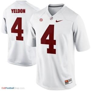T.J. Yeldon Alabama #4 Football Jersey - White