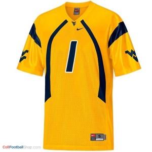 Tavon Austin West Virginia Mountaineers #1 Youth Football Jersey - Gold