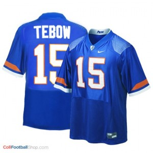 Tim Tebow Florida Gators #15 Football Jersey - Blue