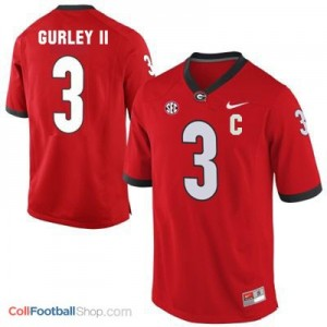 Todd Gurley Georgia Bulldogs (UGA) #3 C Patch Football Jersey - Red