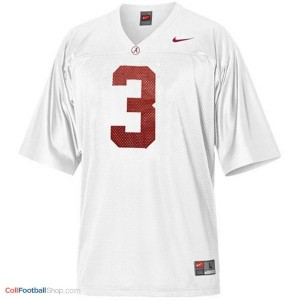 Trent Richardson Alabama #3 Football Jersey - White