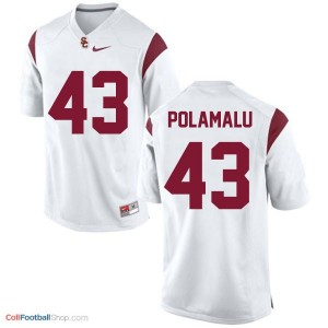 Troy Polamalu USC Trojans #43 Football Jersey - White