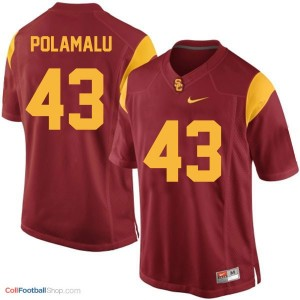 Troy Polamalu USC Trojans #43 Youth Football Jersey - Red