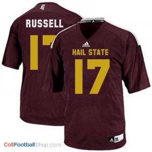 Tyler Russell Mississippi State Bulldogs #17 Football Jersey - Maroon Red