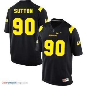 Will Sutton Arizona State Sun Devils (ASU)  #90 Football Jersey - Black