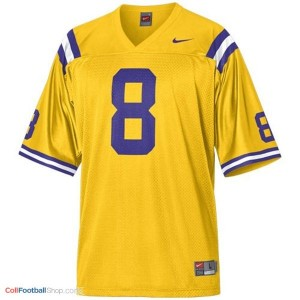 Zach Mettenberger LSU Tigers #8 Mesh Football Jersey - Gold