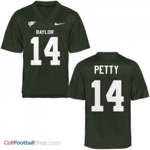 Bryce Petty Baylor Bears #14 Football Jersey - Green