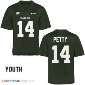 Bryce Petty Baylor Bears #14 Youth Football Jersey - Green